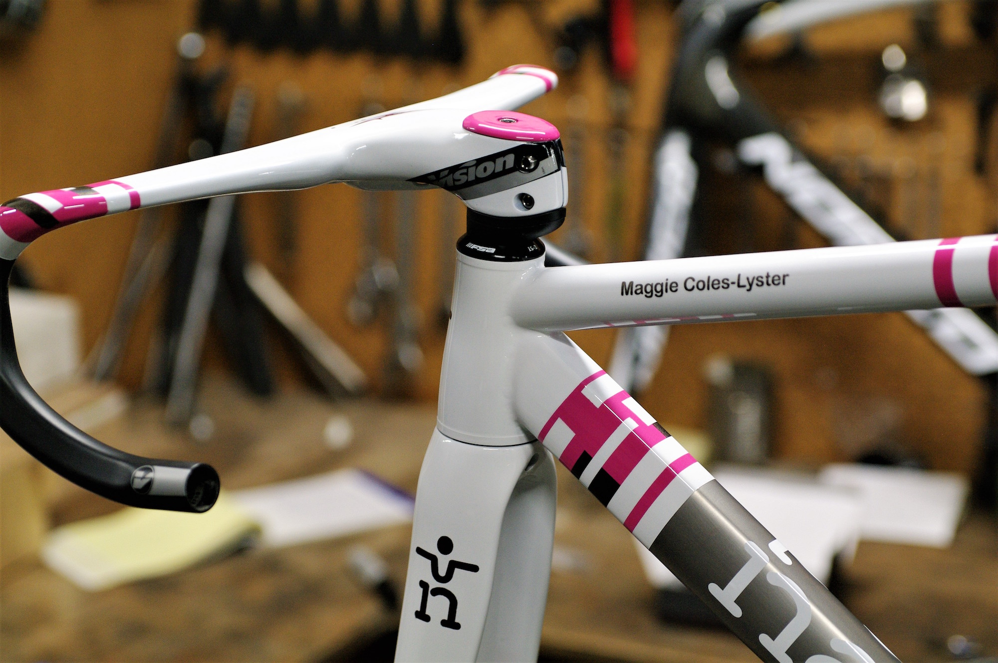 Maggie Coles-Lyster Elle Pirahna Track bike